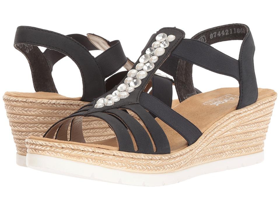 Rieker 61966 Fanni 66 (Pazifik) Women's Shoes