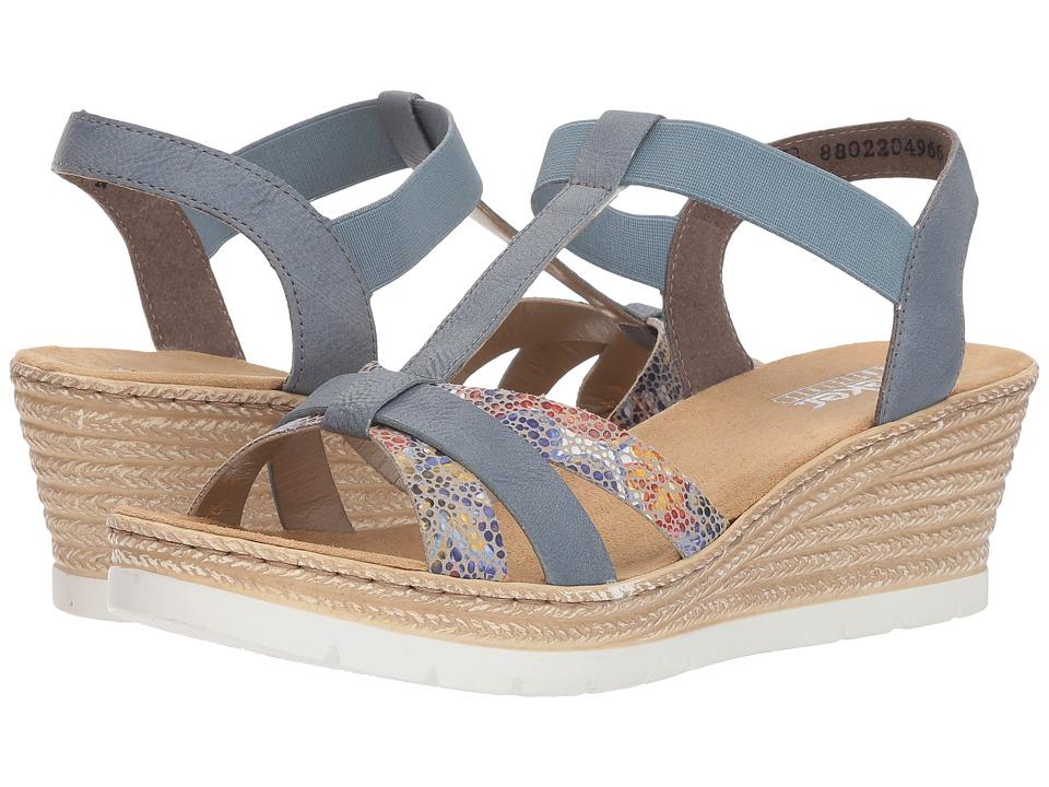 Rieker 61995 Fanni 95 (Weiss/Multi/Adria) Women's Shoes