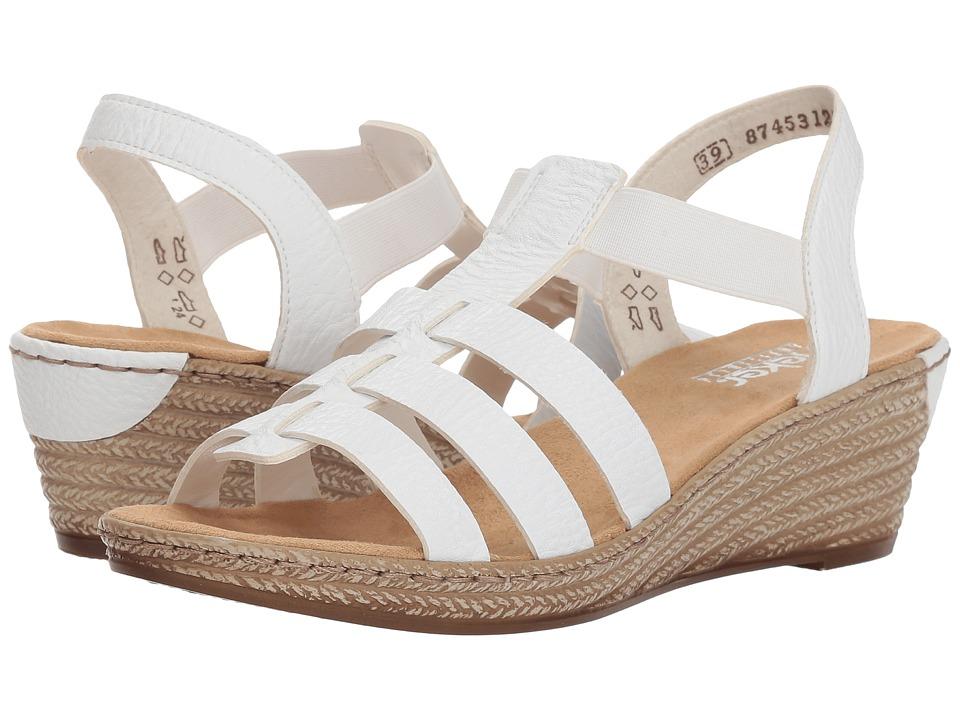 Rieker 62420 Fanni 20 (Weiss) Women's Shoes