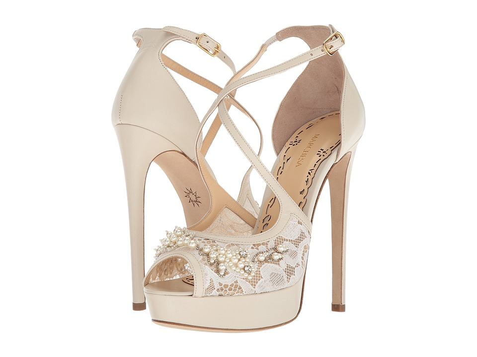 Marchesa - Mattie (Nude Metallic Suede) Womens Shoes