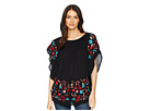 Scully Taylor Embroidered On or Off the Shoulder Top