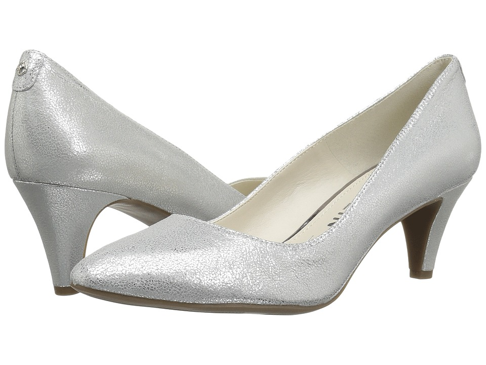 Anne Klein Rosalie (Silver Leather) High Heels