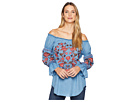 Scully Bara Off the Shoulder Boho Embroidered Top