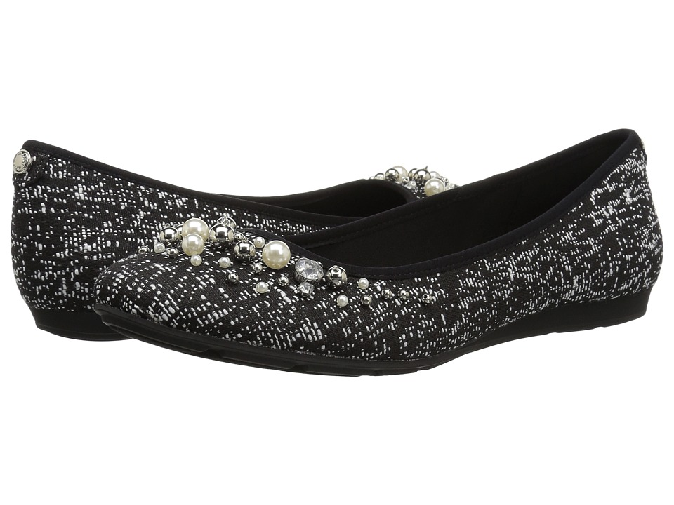 Anne Klein Aveline (Black/White Multi/Light Fabric) Flats