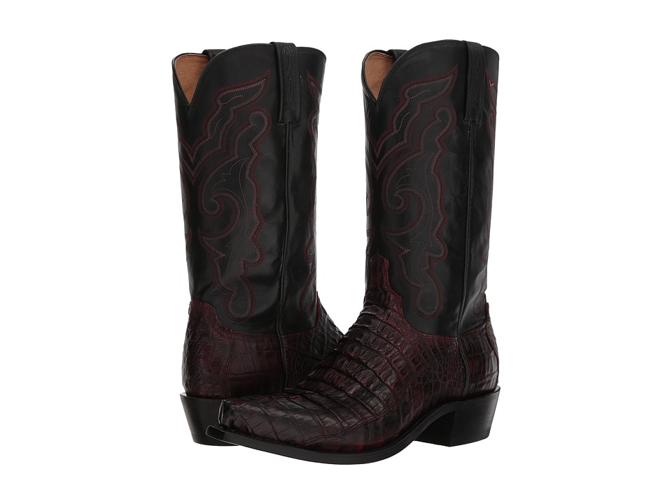 Lucchese - Franklin (Black Cherry Hornaback Tail) Cowboy Boots