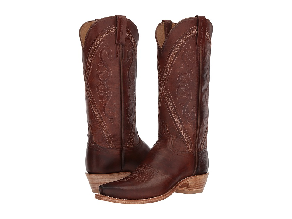 Lucchese Darlene (Tan Bright Dog Goat) Cowboy Boots