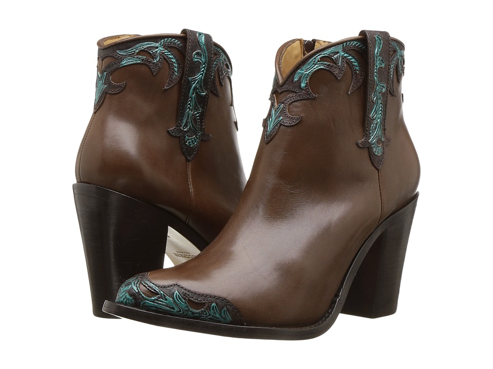 Lucchese Bethany (Chocolate/Turquoise) Cowboy Boots