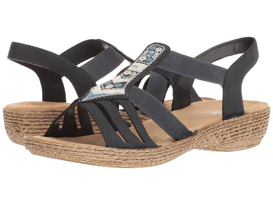Rieker 65807 Regina 07 (Pazifik) Women's Shoes