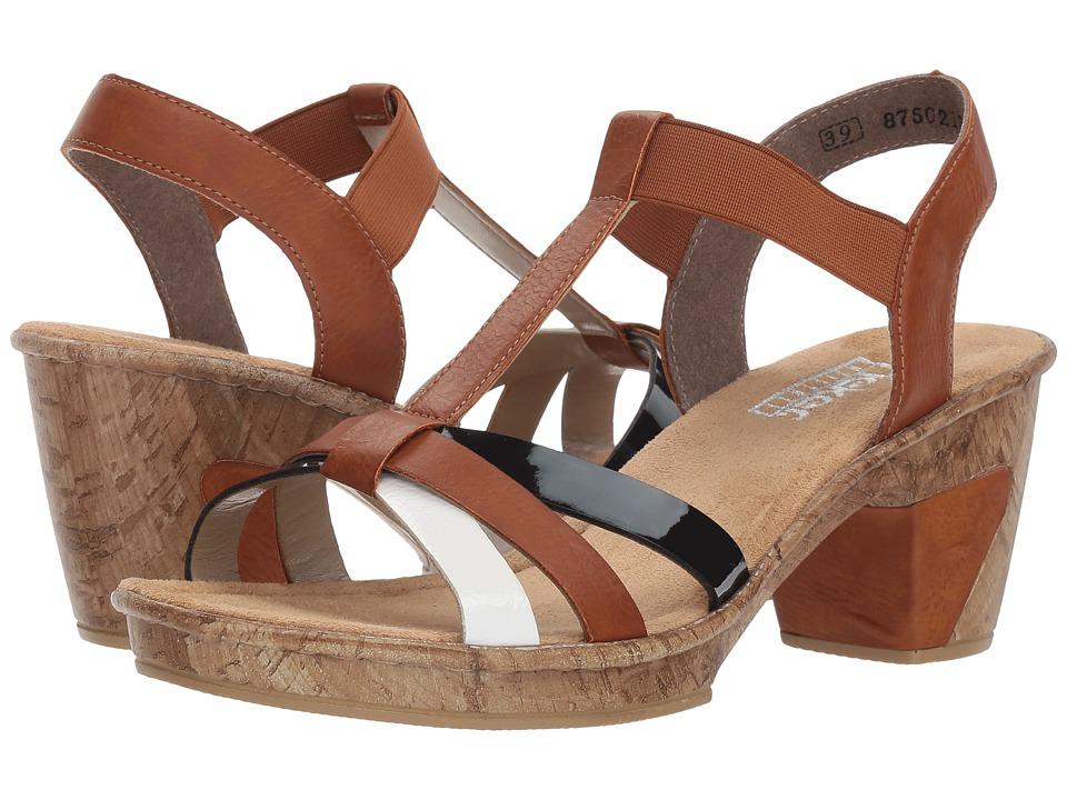 Rieker 69790 Roberta 90 (Bianco/Cayenne/Marine) Women's Shoes