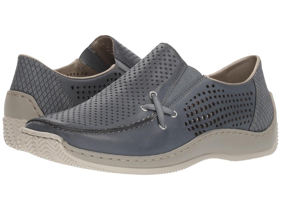 Rieker - L1767 Celia 67 (Wave/Azur/Azur) Womens Slip on  Shoes