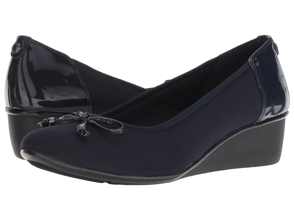 Anne Klein Darlene (Navy Multi/Light Fabric) Women's Shoes