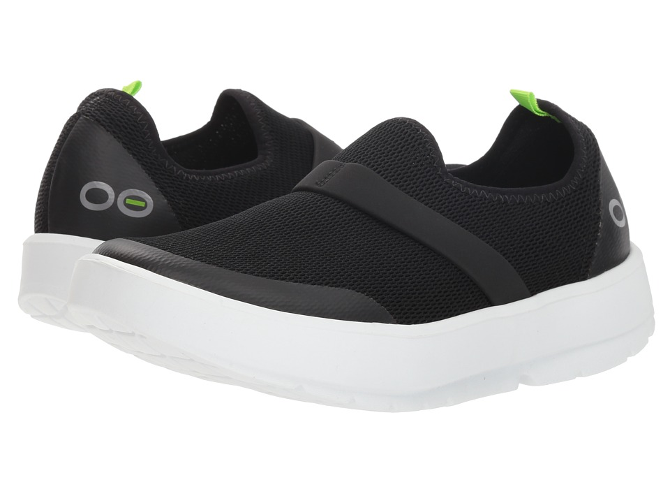 OOFOS Oomg (White/Black) Slip-On Shoes