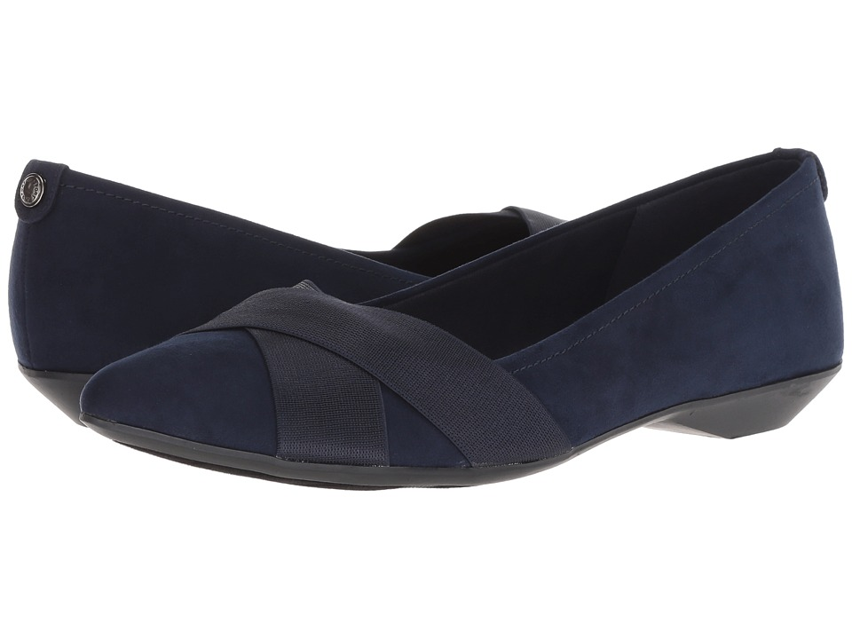Anne Klein Oalise (Dark Navy/Dark Navy Fabric) Women's Shoes