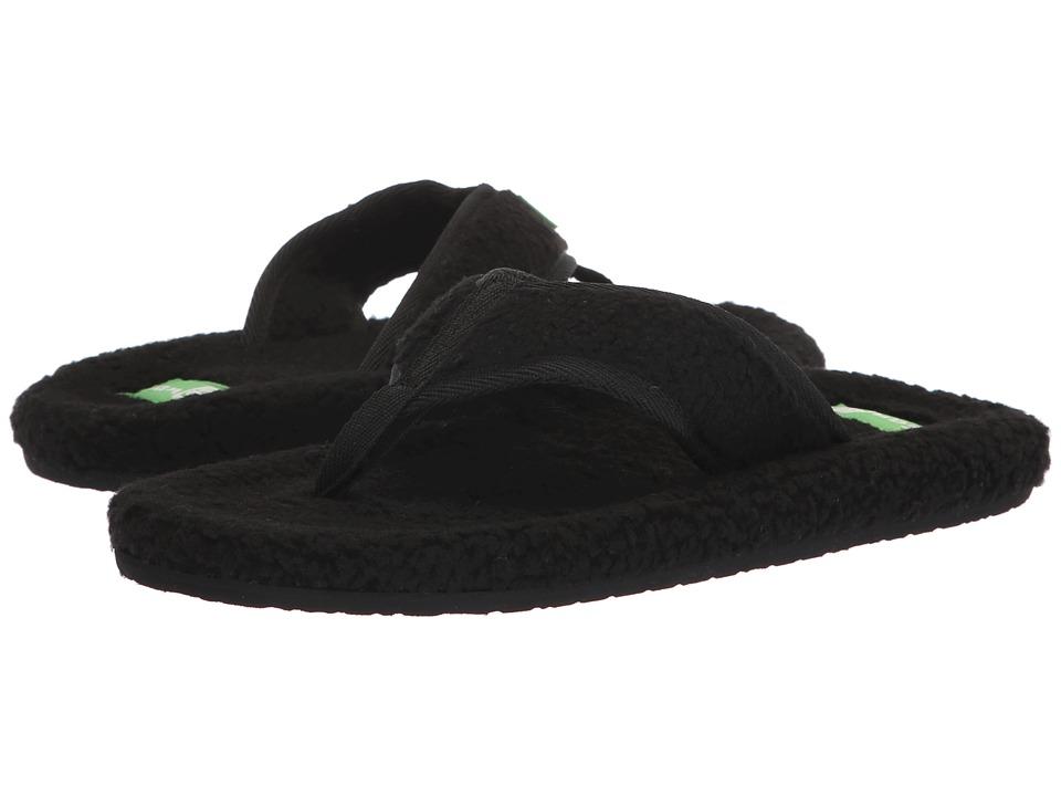 Sanuk Furreal Classic Chill (Black) Sandals