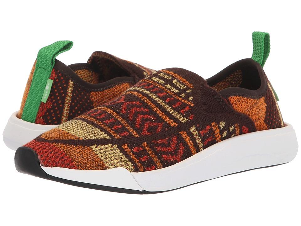Sanuk Chiba Quest Knit (Brown/Orange Blanket) Women's Shoes