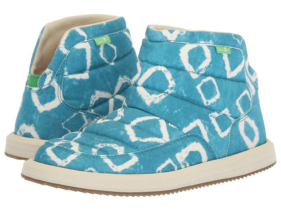 Sanuk Puff N Chill Signature (Enamel Blue Print) Slip-On Shoes