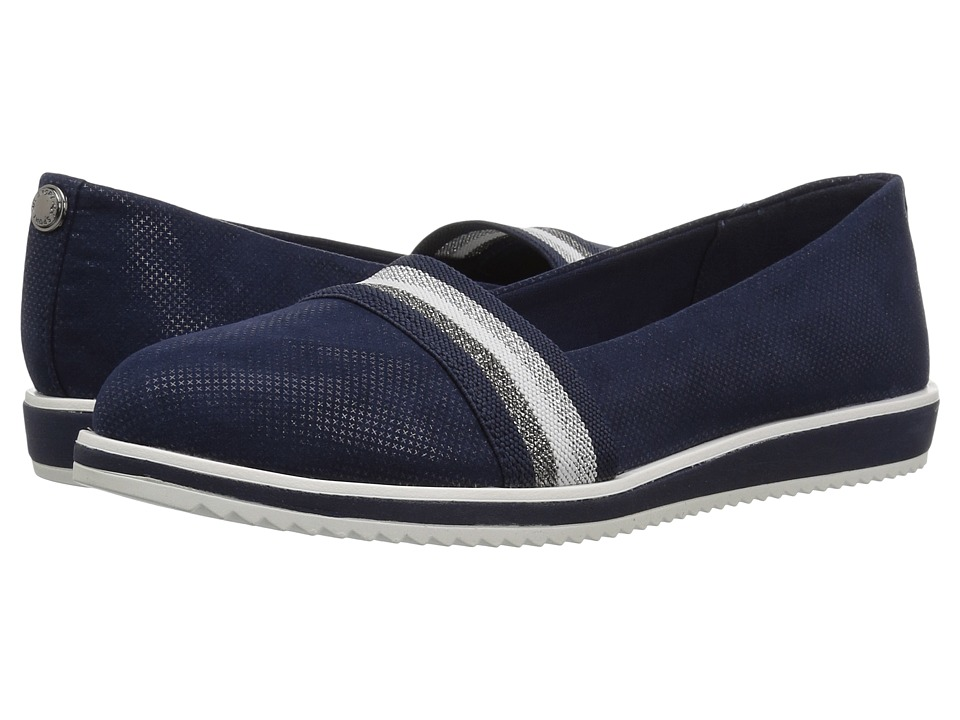 Anne Klein Mallorie (Dark Navy/Dark Navy Fabric) Women's Shoes