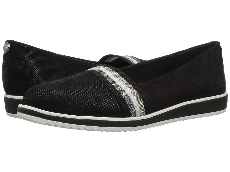 Anne Klein Mallorie (Black/Black Fabric) Women's Shoes