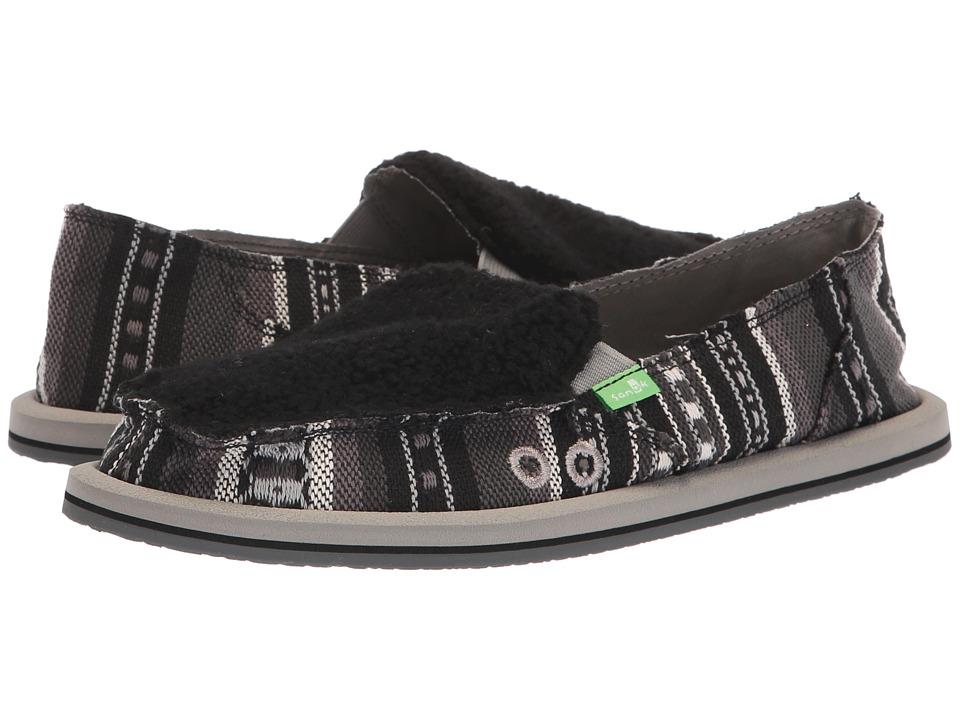 Sanuk Donna Sherpa Blanket (Black/White Blanket) Slip-On Shoes