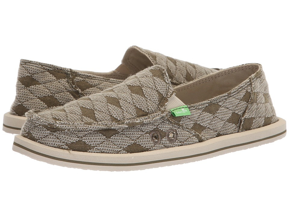 Sanuk Donna (Burnt Olive Argyle) Slip-On Shoes