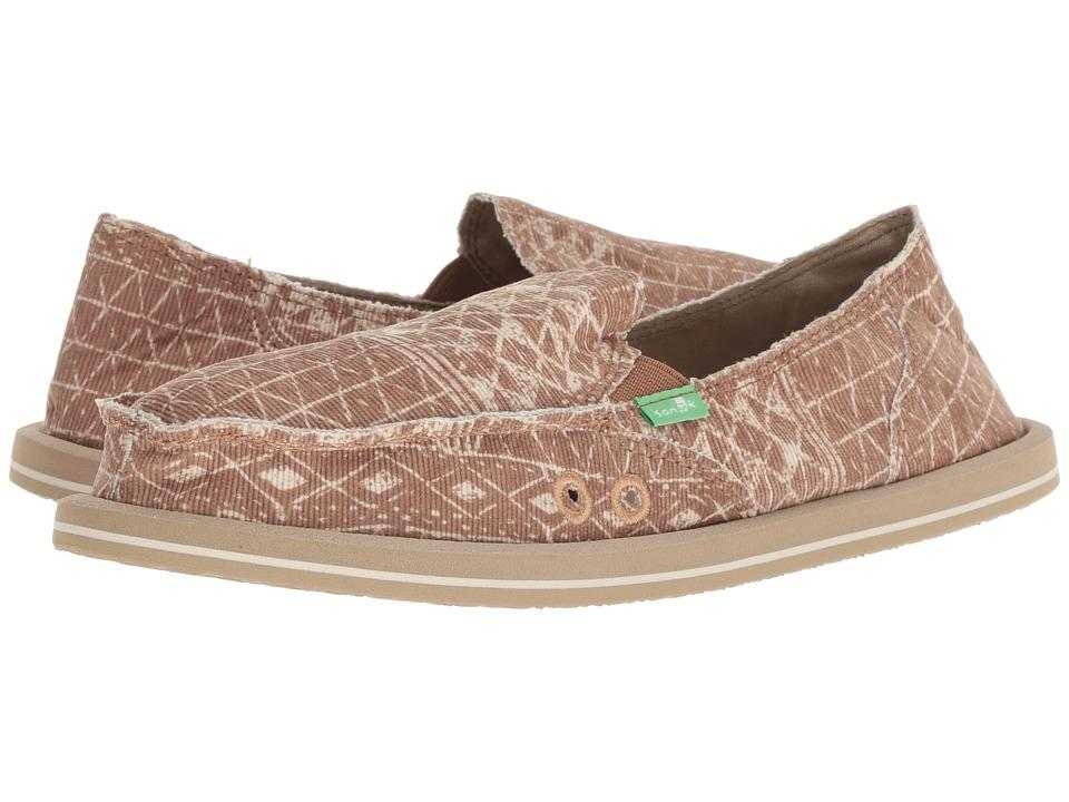 Sanuk Donna (Brown) Slip-On Shoes