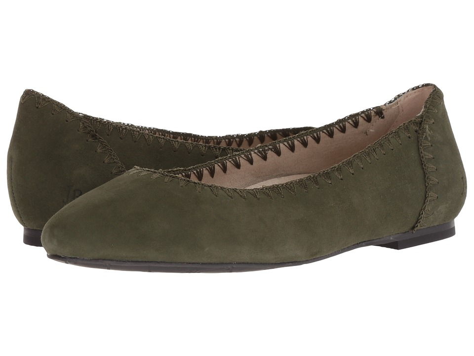 Jack Rogers Ellie Suede II (Olive) Women's Shoes