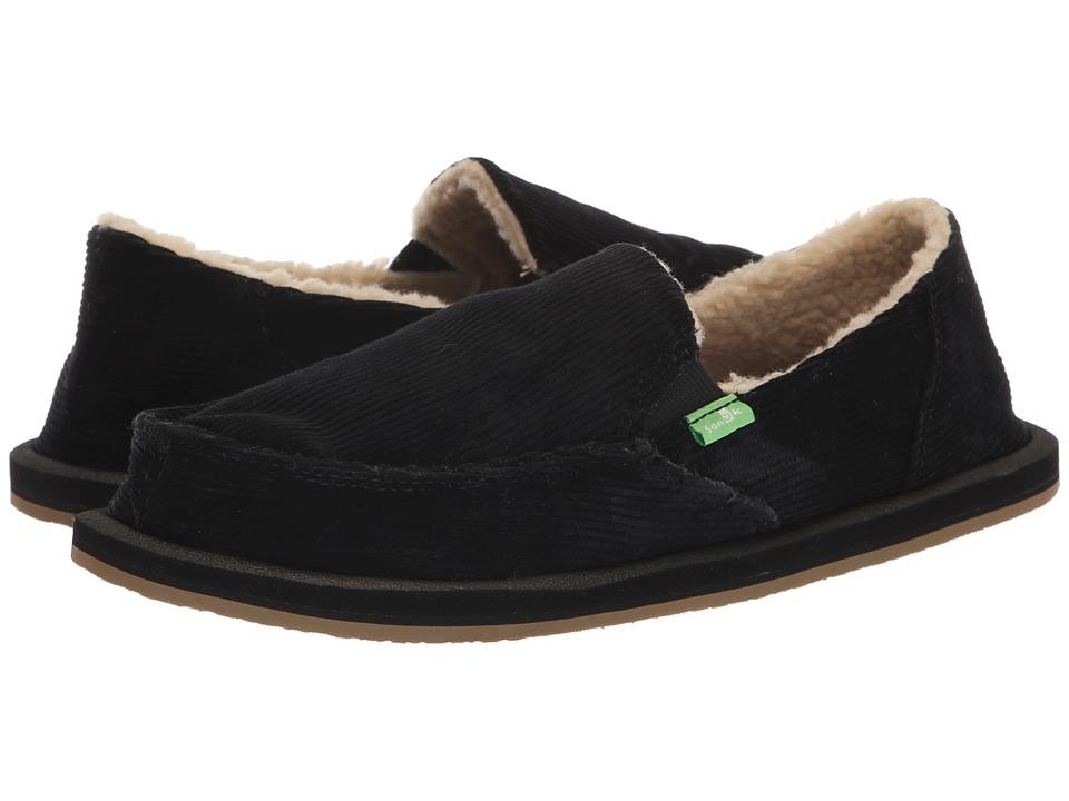 Sanuk Donna Chill Cord (Black) Slip-On Shoes