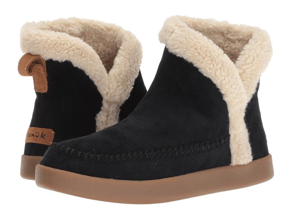 Sanuk Nice Bootah Corduroy (Black) Women's Pull-on Boots