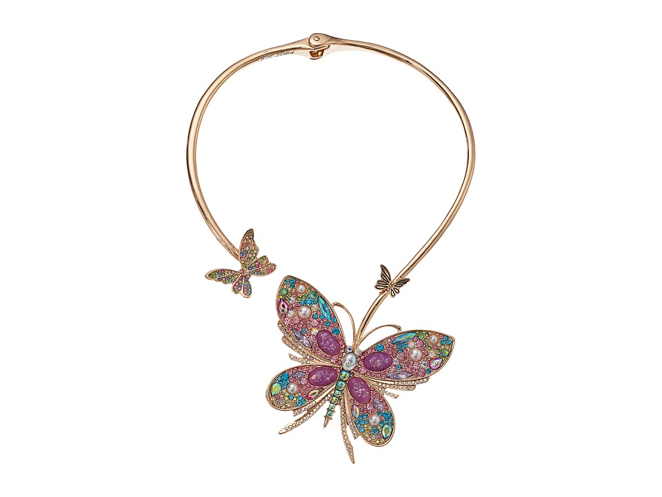 Betsey Johnson Butterfly Hinge Collar Necklace (Multi) Ne...