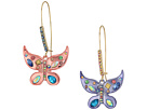 Betsey Johnson Betsey Johnson Colorful Butterfly Drop Earrings