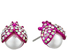 Betsey Johnson Betsey Johnson Pink Beetle Stud Earrings