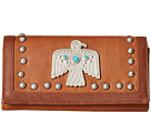 American West American West Guns And Roses Flap Wallet