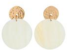 Robert Lee Morris Mother-of-Pearl Disc Earrings