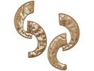 Robert Lee Morris Gold Curved Linear Earrings