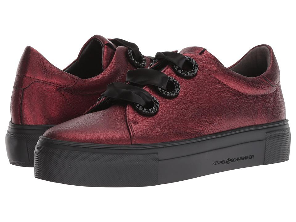 Kennel & Schmenger Big Metallic Ribbon Sneaker (Safron Metallic) Women's Shoes