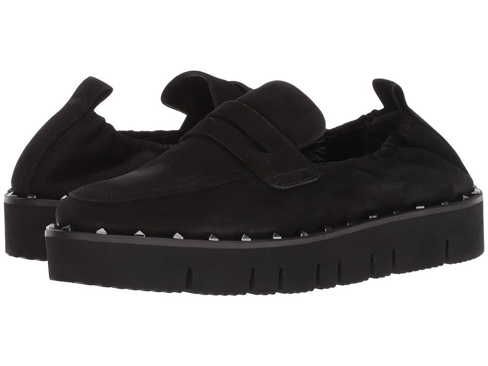 Kennel & Schmenger Malu XXL Studded Loafer (Black Nubuck) Slip-On Shoes