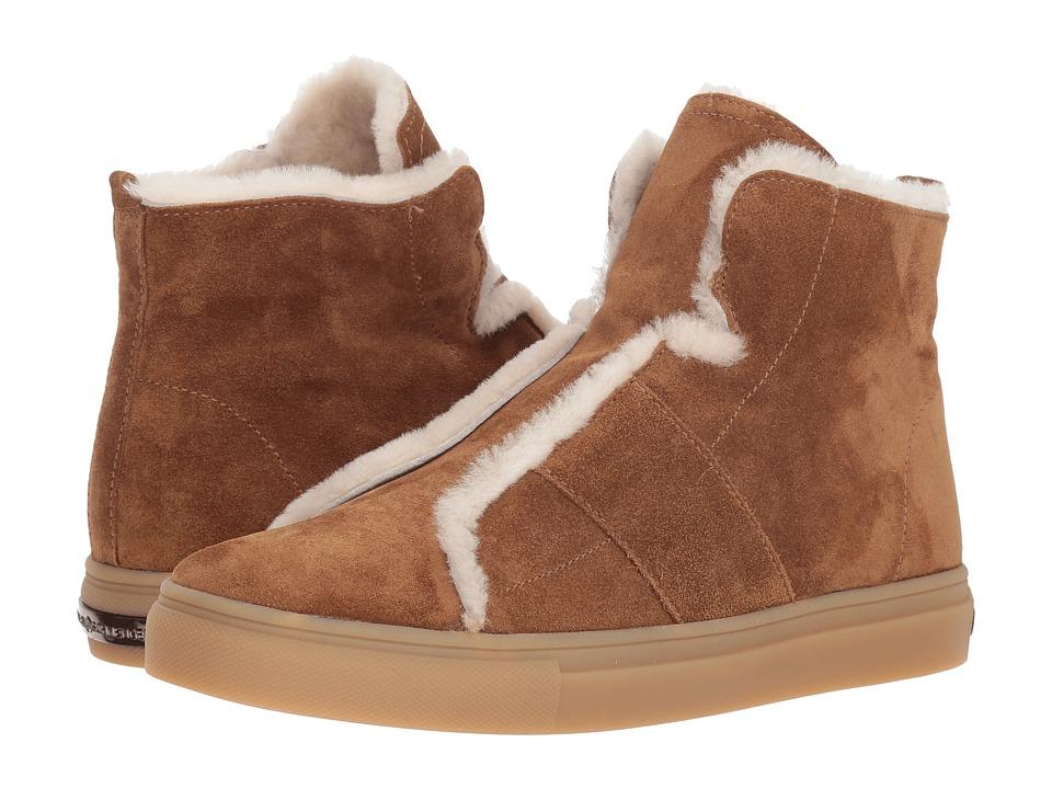 Kennel & Schmenger Basket High Suede and Fleece Sneaker (Hazel Suede/Natural Shearling) Women's Shoes