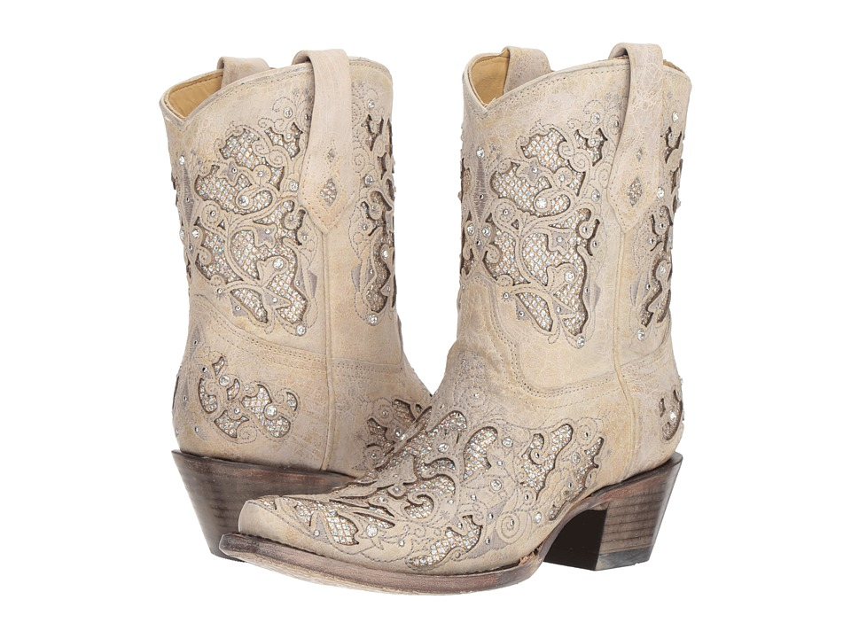 Corral Boots A3550 (White Glitter)
