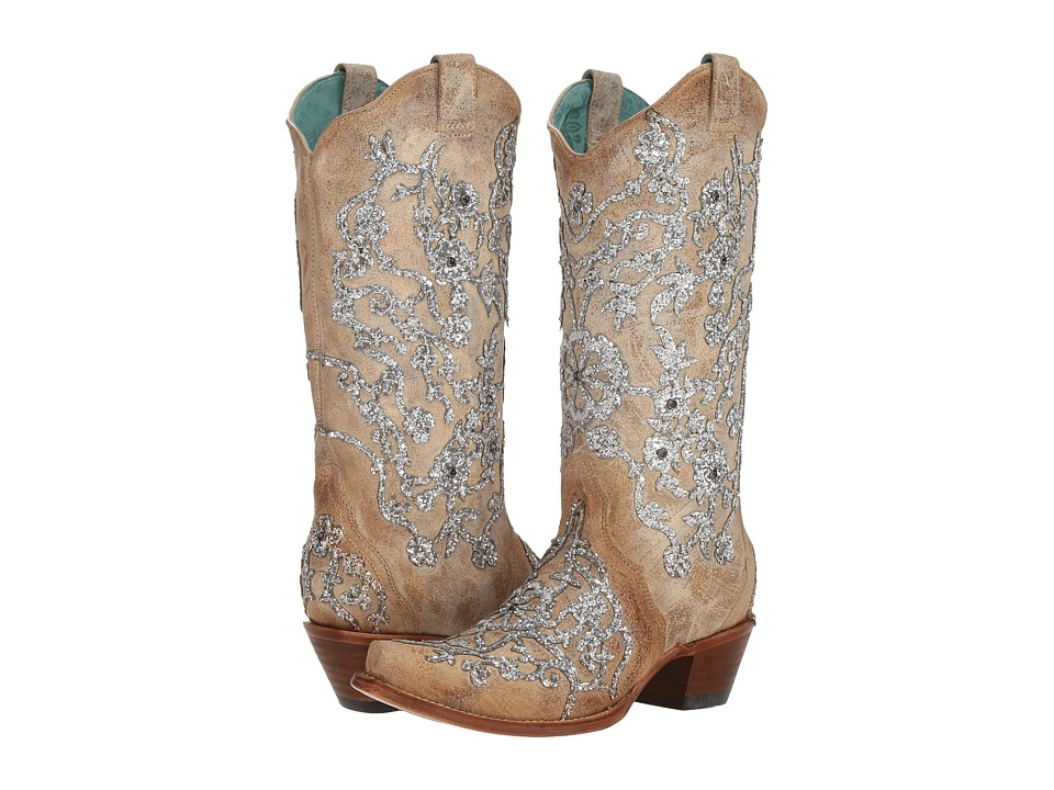 Corral Boots - C3356 (Bone) Womens Shoes