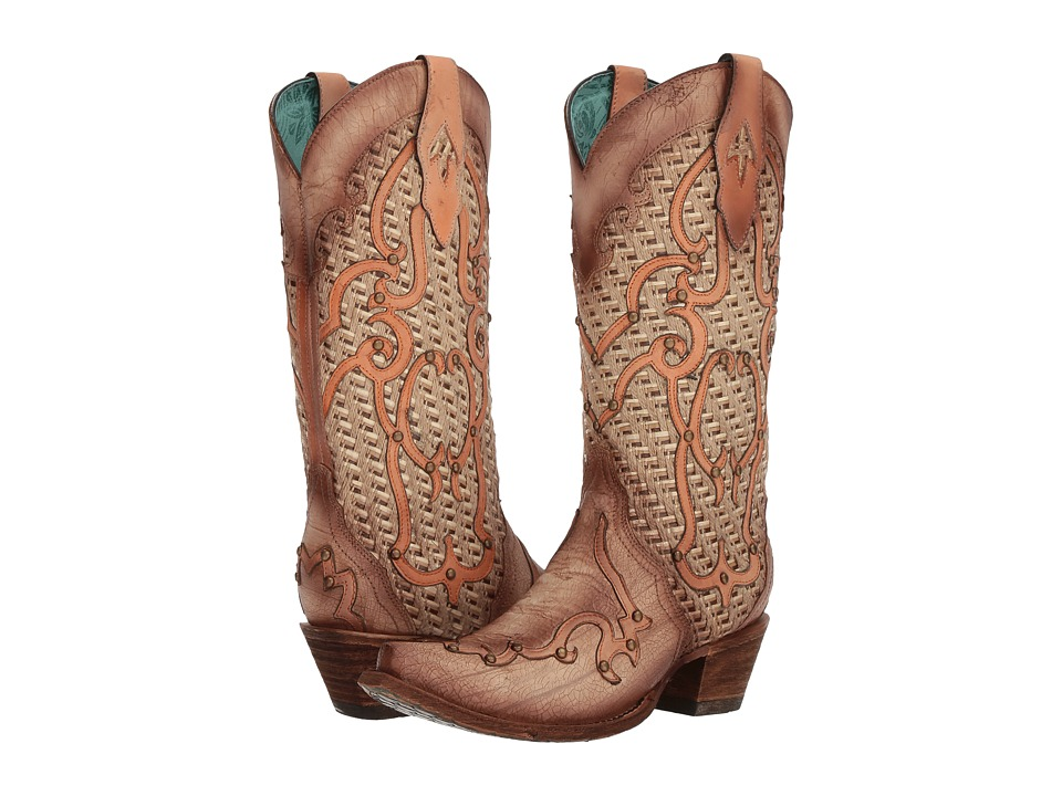 Corral Boots - C3387 (Bone) Womens Boots