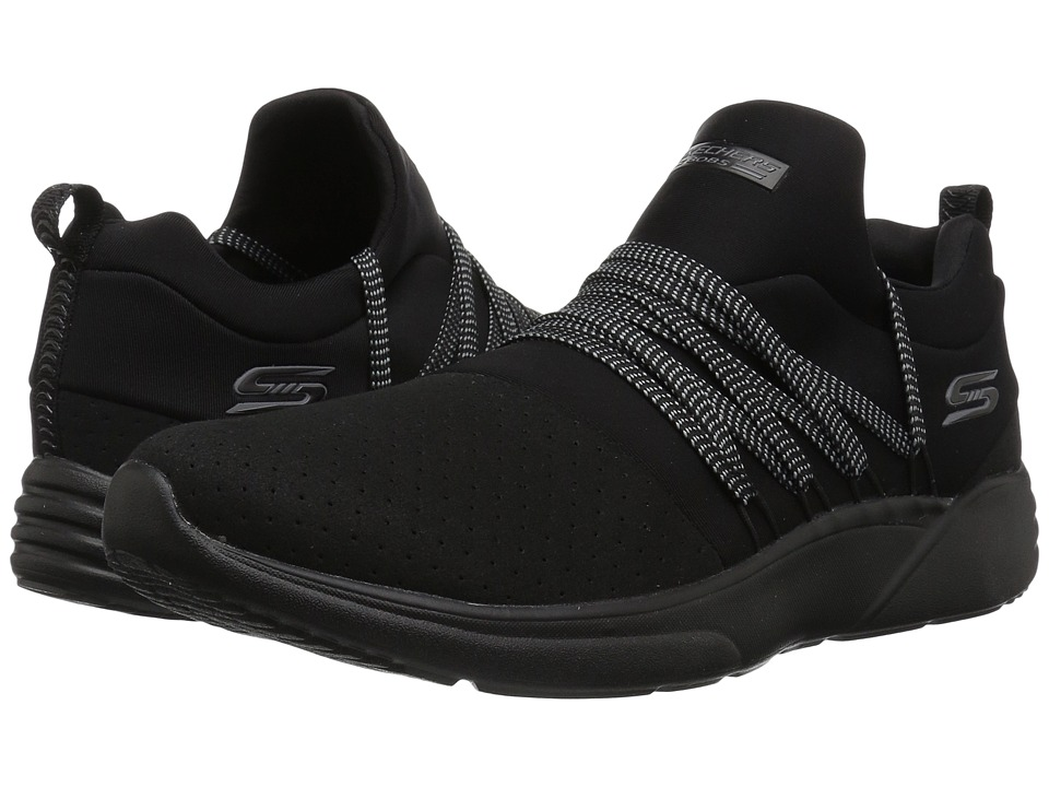 BOBS from SKECHERS Bobs Sparrow - Moon Chaser (Black/Black)