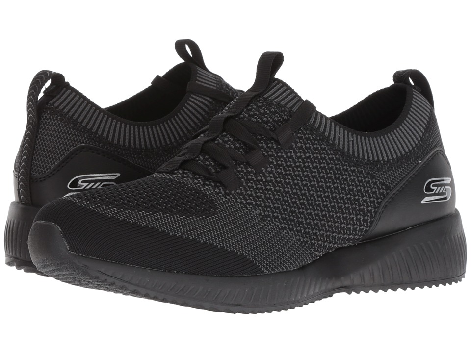 BOBS from SKECHERS Bobs Squad - Alpha G (Black/Charcoal) Women's Shoes