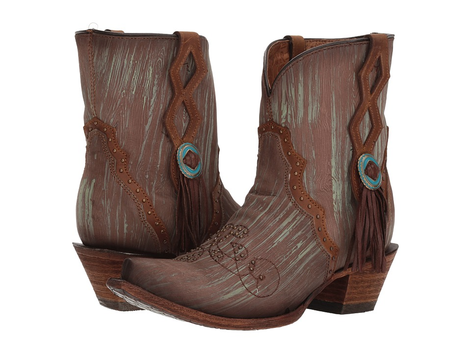 Corral Boots - C3292 (Turquoise/Brown) Womens Boots