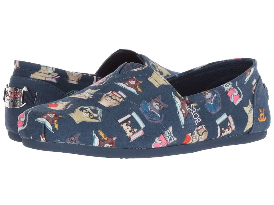 BOBS from SKECHERS BOBS Plush Studious Cats (Navy) Women