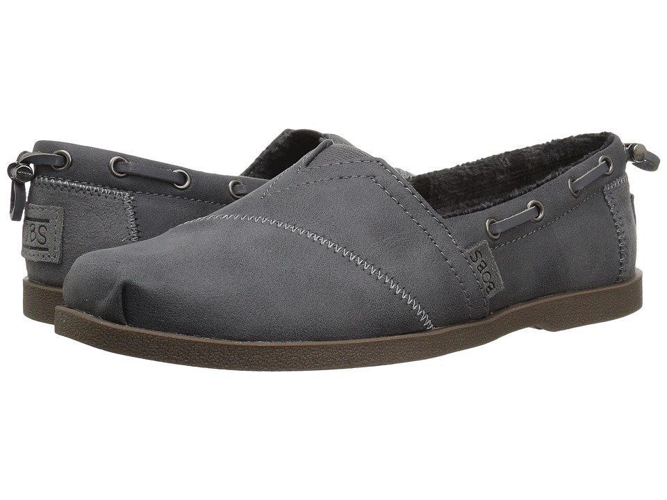 BOBS from SKECHERS Chill Luxe - Buttoned Up (Gray) Slip-On Shoes