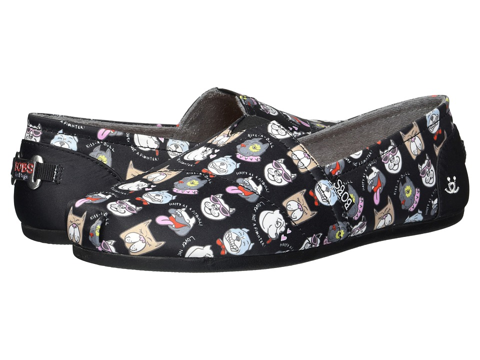 BOBS from SKECHERS Bobs Plush - Oh So Pitty (Black) Slip-On Shoes