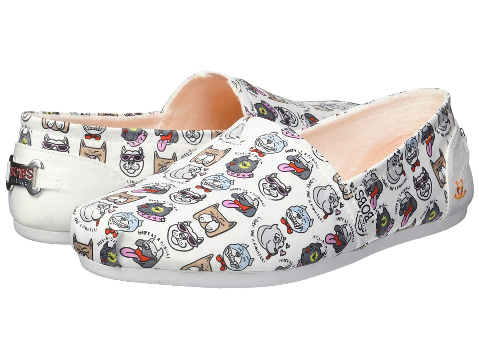 BOBS from SKECHERS Bobs Plush - Oh So Pitty (White) Slip-On Shoes