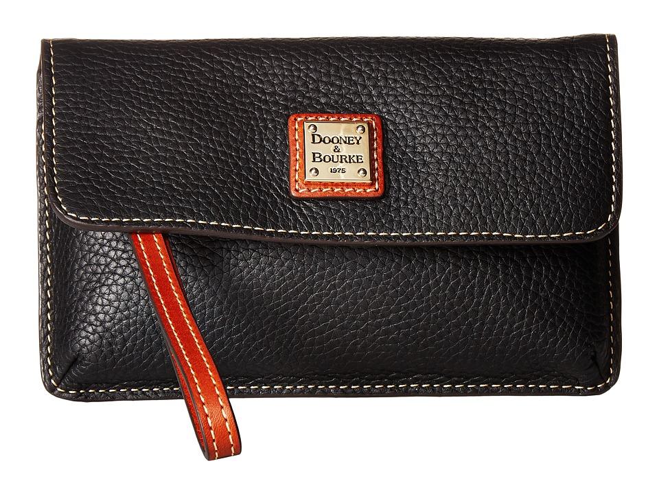 Dooney & Bourke - Pebble Milly Wristlet (Black/Tan Trim) Wristlet Handbags
