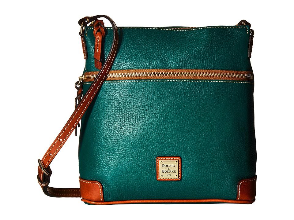 Dooney & Bourke - Pebble Leather Crossbody (Leaf/Tan Trim) Cross Body Handbags