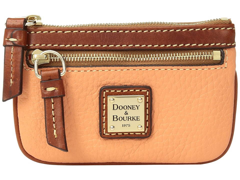 Dooney & Bourke - Pebble Small Coin Case (Apricot/Tan Trim) Coin Purse